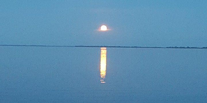 Full Moon Winnipeg Beach Pier Dunnottar Cabin