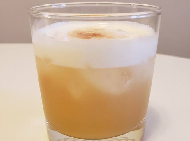 Amaretto Bourbon Sour Cocktail